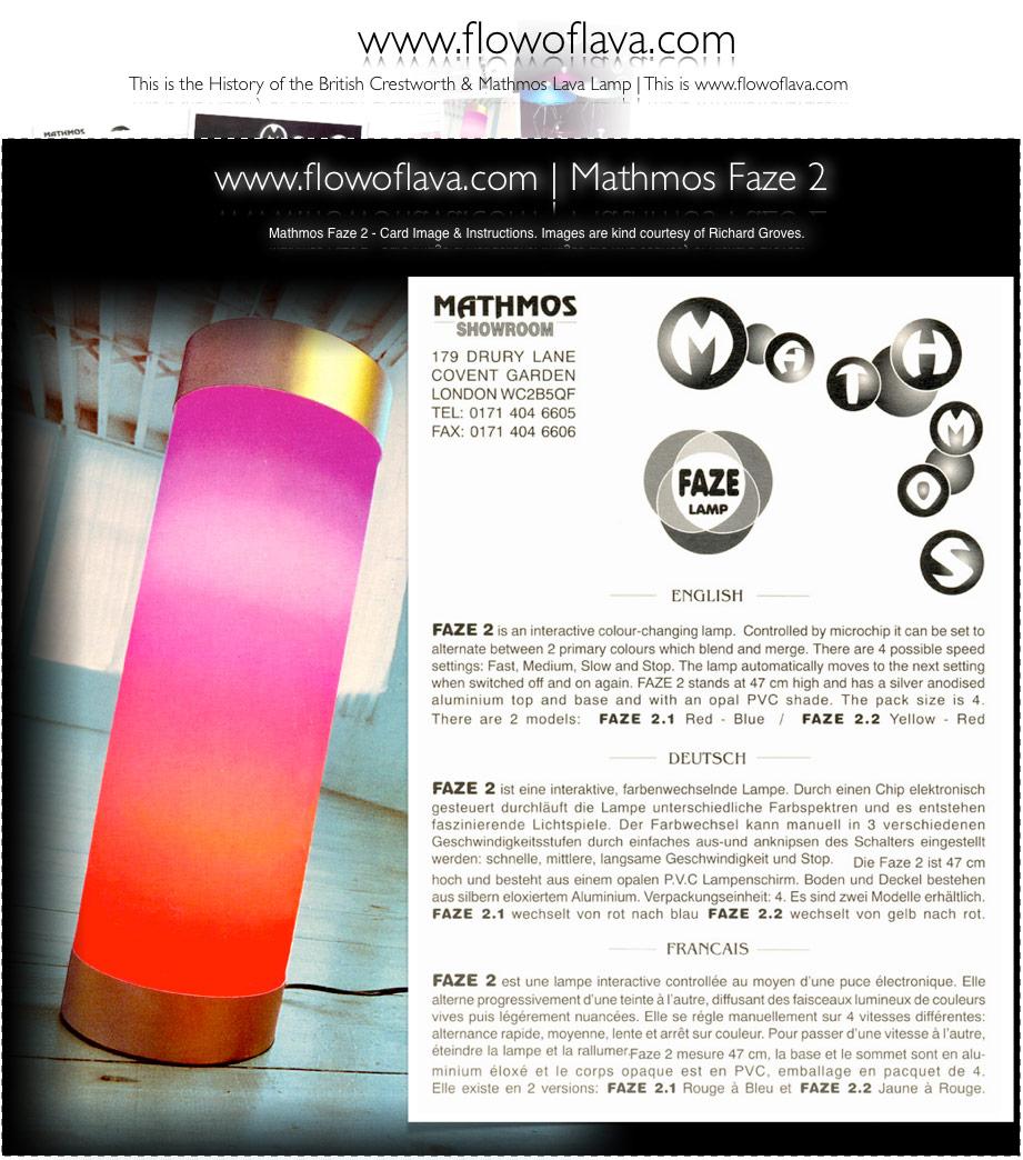 Flowoflava Com Mathmos Faze 1 Faze 2 Amp Faze 3 Products